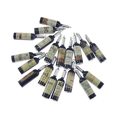 20pcs Black Color Red Wine Bottle Shaped Resin Pendant Charms Jewelry - Wine Bottle Jewelry