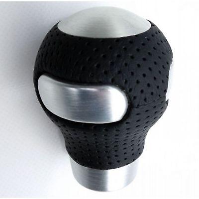 Knob Ball Black Leather and Alu Universal Stem 7 a 17MM