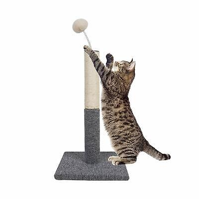 Dimaka Cat Scratching Post with Sisal Pole and Carpet Covered Base