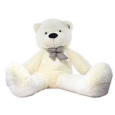 "Joyfay®  63"" 160 cm 5 ft White Giant Teddy Bear Huge Stuffed Toy Christmas Gift"