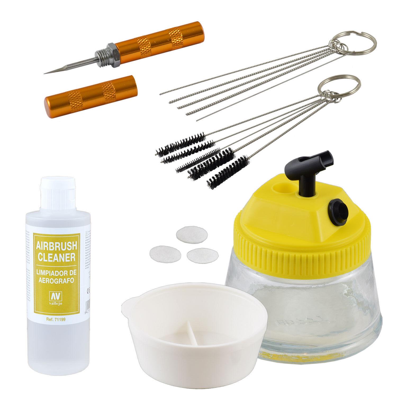 Airbrush Zubehör Cleaning Pot Bürsten Nadeln Reinigungs set Pistole säubern