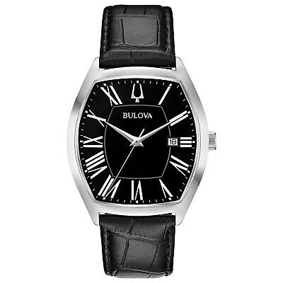 Bulova Men's Classic Collection Ambassador Quartz Black 44.5mm Watch 96B290