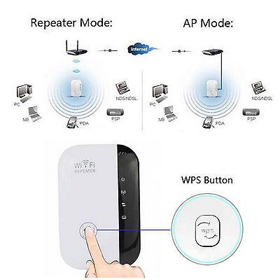 Repetidor Amplificador señal Wifi repeater Wi-Fi 300Mbps router punto acceso 24h