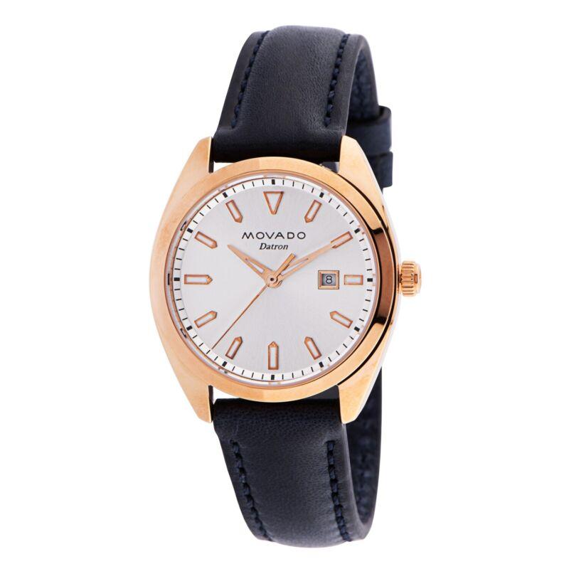 Movado 3650037 Women Heritage-Datron Rose Gold Quartz Watch