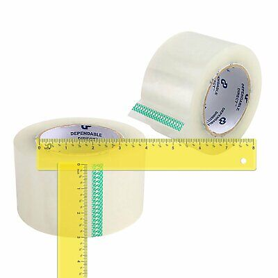 12 Rolls Clear Packing Tape 3 Inch x 110 Yds (330') Carton Sealing Packing Tapes