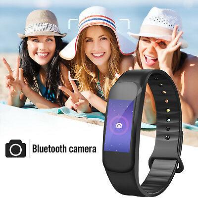Sports Blood Pressure/Heart Rate Monitor Fitness Smart Watch Wrist Band Bracelet