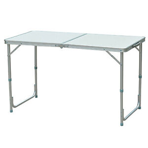 Outdoor Portable Aluminum Camping Picnic Folding Dining Table 47