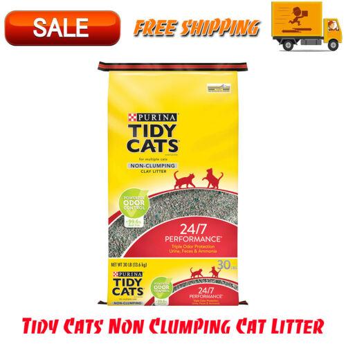 Tidy Cats Non Clumping Cat Litter, 24/7 Performance Multi Cat Litter, 30 lb. Bag
