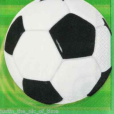 FOOTBALL THEME Boys Birthday Party Napkin Tableware Paper Napkins x16
