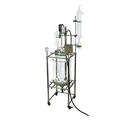 10l Explosion Proof Jacketed Glass Chemical Reactor Glass Reaction Vessel