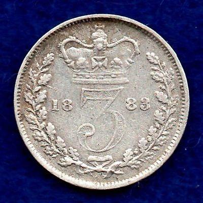 Great Britain, Victoria, 1883 Threepence (Ref. c5418)