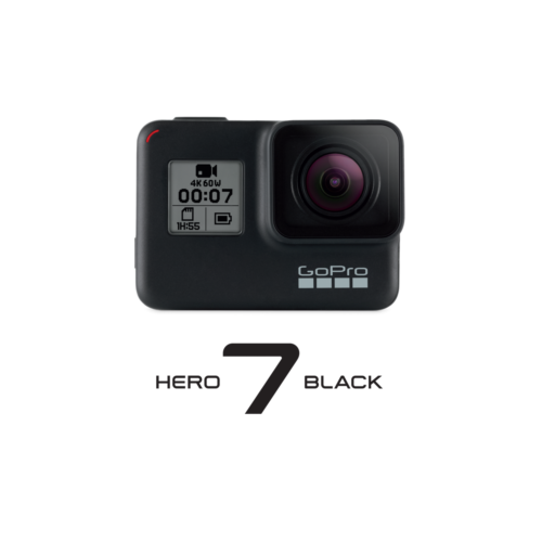 GoPro Hero 7 Black 4K60-Action Cam wasserdicht Sprachsteuerung Touchscreen