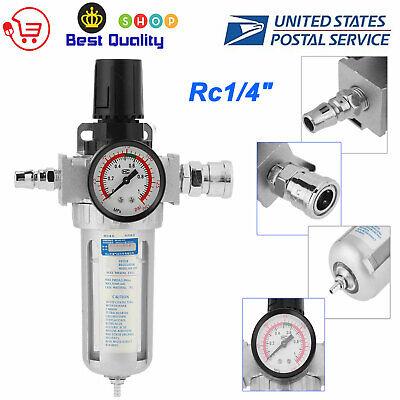 14 Air Compressor Moisture Water Trap Filter Regulator Separator With Mount Us