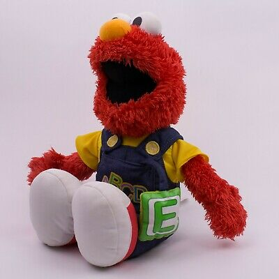 Talking Singing Elmo ABC Plush Doll Overalls Fisher Price Sesame Street 2008