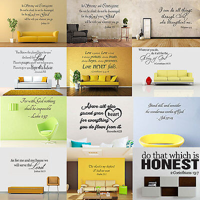 Bible Wall (Bible Verse Wall Decals Word Vinyl Removable Sticker Quote Inspiration Art)