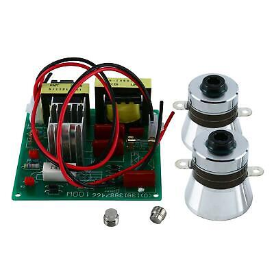 110v Ultrasonic Cleaner Power Driver Board With 2pcs 50w 40k Transducers