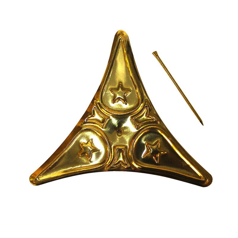 Dust Corner For Stair Steps Polished Brass Decorative Star Design