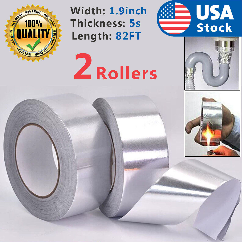 85FT Waterproof Strong Aluminum Foil Tape Butyl Seal Magic Repair Adhesive USA Adhesives & Tape