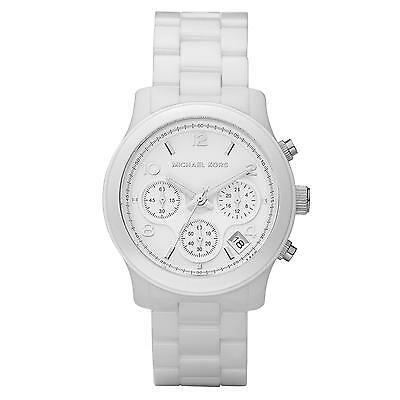 Michael Kors MK5161 White Ceramic Chronograph Wrist Watch for Unisex FreeShippin