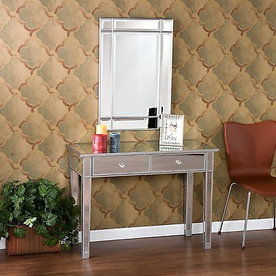 Mirrored Cockiness Table Console Mirror Glam Drawers Hallway Bedroom Furniture