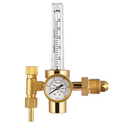 Cga-580 Argon Co2 Mig Tig Flow Meterlpmwelding Weld Regulator Gauge Gas Welder
