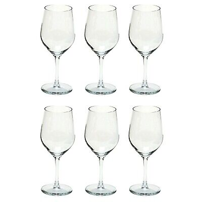 my basics 376 00 02 Ultra Weißweinkelch Glas, 376 ml, 19,4 cm, klar (6 Stück)