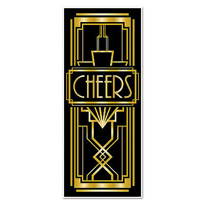 Gatsby Props (Roaring GREAT 20's Gatsby CHEERS DOOR COVER Party Decoration PHOTO PROP)