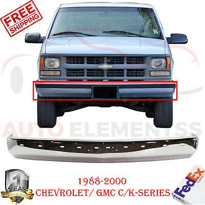 Front Bumper Chrome For 1988-2000 Chevrolet / GMC C/ K-Series With Molding Holes