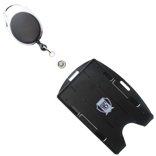Multi Card ID Holder  & Retractable Carabiner Badge Reel