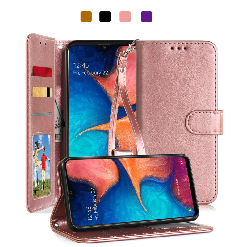 For Samsung Galaxy A10e A20 A50 Leather Shockproof Magnetic