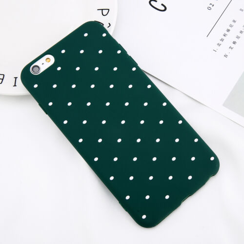 For iPhone SE X 7 8 Plus Slim Shockproof Silicone Polka Dot Soft TPU Case Cover