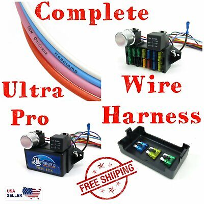1980 - 1996 Ford Truck Pickup F - 150 Ultra Pro Wire Harness System 12 Fuse