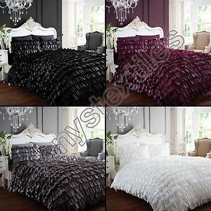 Can can frilled flamenco dress quilt duvet cover bedding for Housse de couette argent