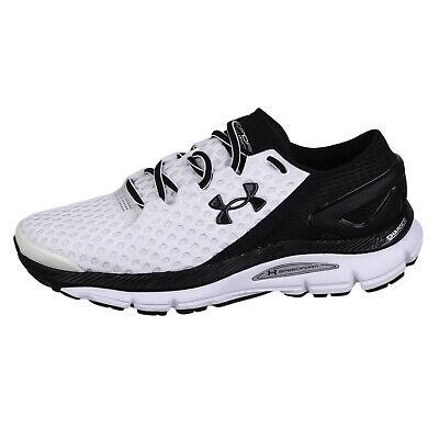 Under Armour Mens SpeedForm Gemini 2 Run Shoes 1266212 White/Black/Silver 7.5