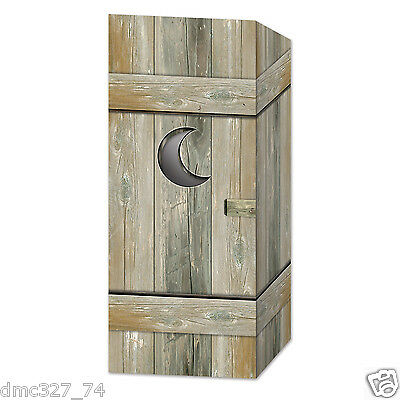 Cowboy Western Country Party Decoration Bathroom Restroom OUTHOUSE CENTERPIECE