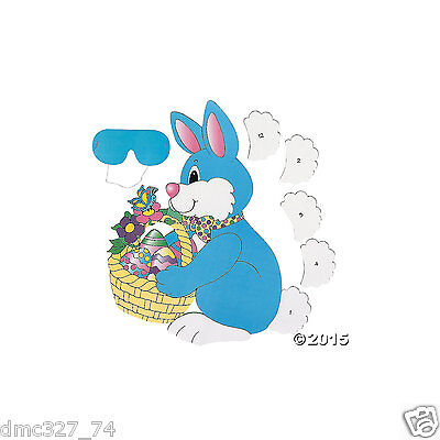 Pin The Tail On The Bunny (EASTER SPRING PAPER Party Game Activity Fun PIN THE TAIL ON THE)