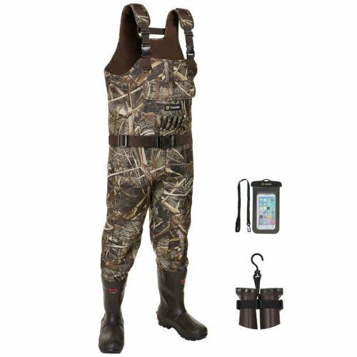 TideWe Bootfoot Chest Wader 2-Ply Nylon/PVC Waterproof Waders Size13 NWT 600g