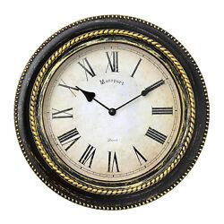 10 Inch Silent Retro Quartz Clock Decorative Wall Clock Battery Operated