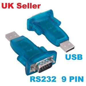 USB 2.0 to RS232 Serial Port DB9 9 Pin Male Converter Adapter Win7/8/2000/XP Mac