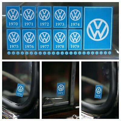 Year Window Sticker Pack for VW Volkswagen 1970 - 1979 Reverse Print - 35 Decals segunda mano  Embacar hacia Mexico