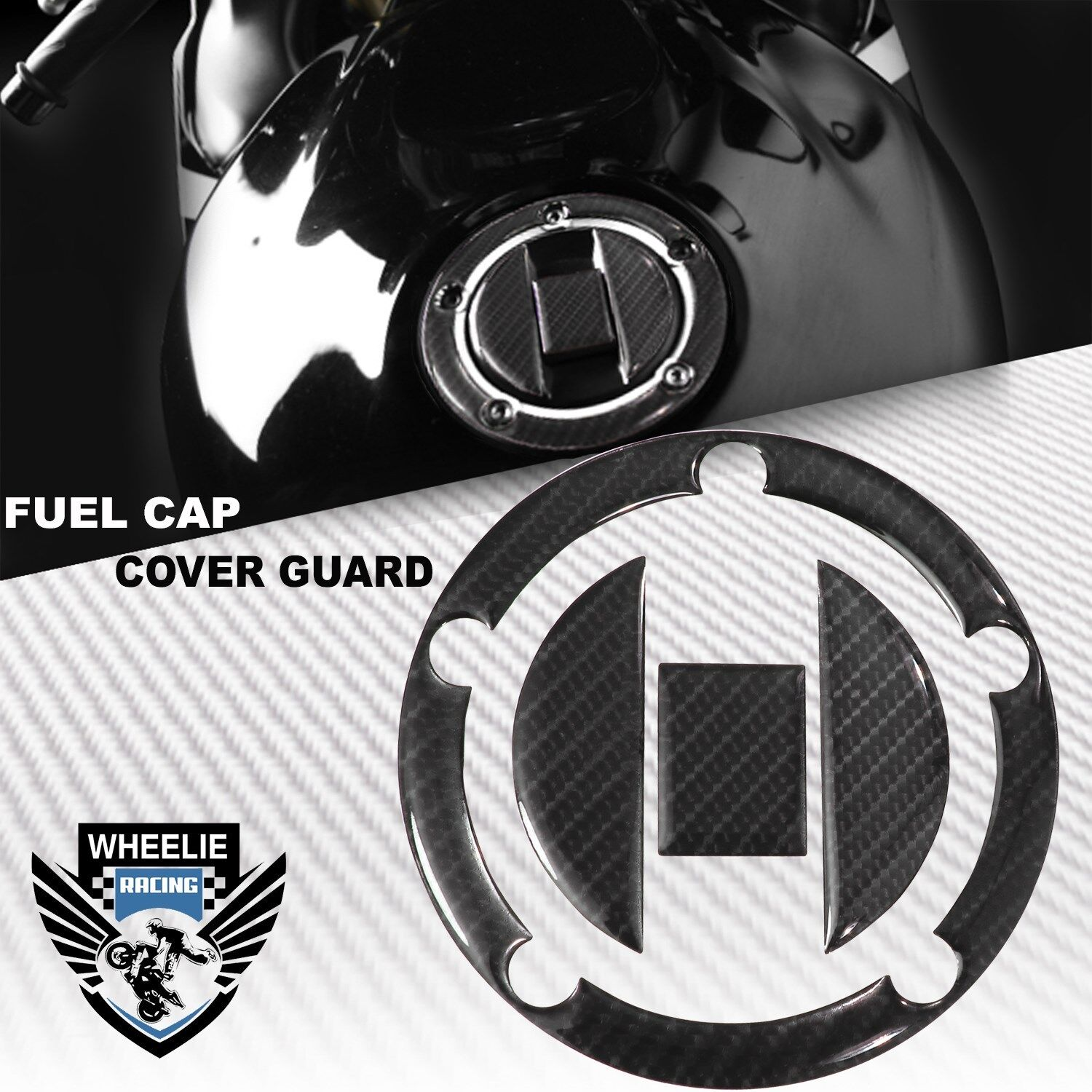 Carbon Fuel Tank Pad Protector Sticker Decal Fit For Suzuki GSXR600//750//1000//130
