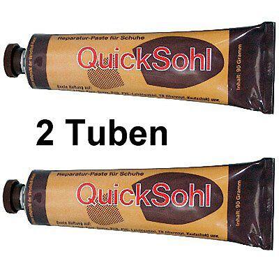Schuhreparatur Paste Quicksohl schwarzbraun 2x 90g Tube