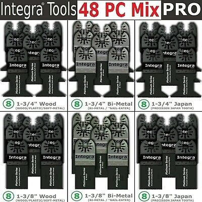 Integra 48 Pc Oscillating Multi Tool Saw Blade Bi-metal Wood Precision Japan