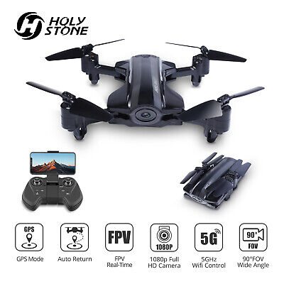 Holy Stone HQ912 Foldable Drone with HD Video Camera 1080p GPS 5G RC Quadcopter