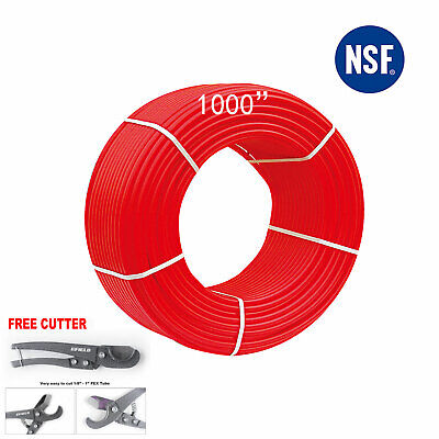 12 X1000ft Pex Pipetubing Oxygen Barrier Evoh Red 1000ft Heating Cutter