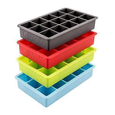 Tovolo Perfect Cube Silicone Ice Cube Tray / Mold - Set of 4 (Tovolo Ice Cube Tray)