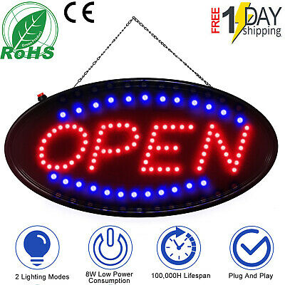 Ultra Bright Led Open Sign Neon Light Animated Motion Flash Business Ad Board