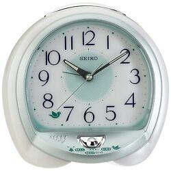 [Seiko] Bird Song bedside Alarm Clock quiet QHK018W,100% authentic+FREE SHIP