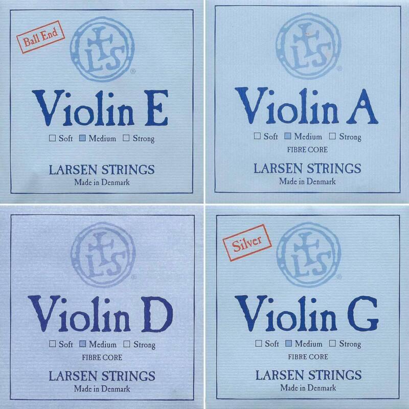 Larsen 4/4 Violin String Set - Medium - Ball-End E