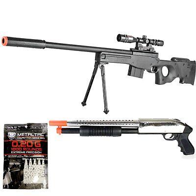 BBTac Airsoft Gun Package - The Top American Sniper - Powerful Spring Sniper Rif